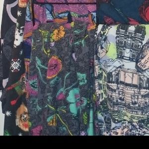 Lularoe // OS floral Gray leggings